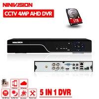 5 In 1 Security CCTV DVR 4CH 8CH AHD 5MP 4MP 3MP 1080P H 264 Hybrid