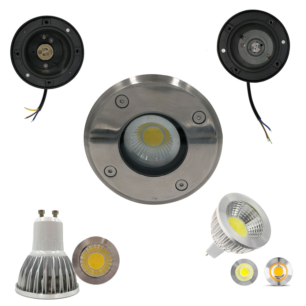 3W 5W MR16 Waterproof LED Underground Light Kit IP65 Gu10 Outdoor Ground Garden Path Floor Buried Yard Spot Landscape