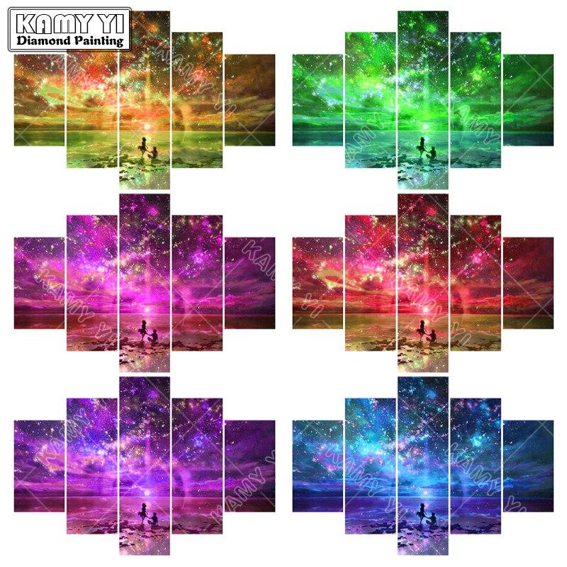Full quadrado bordado broca de Diamante Amo o céu 5D DIY pintura diamante do Ponto da Cruz de Multi-imagem casa decoração presente