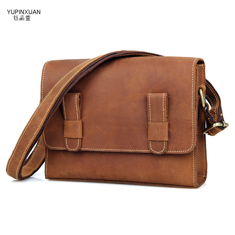 YUPINXUAN Cow Leather Handbags Women Retro Briefcase