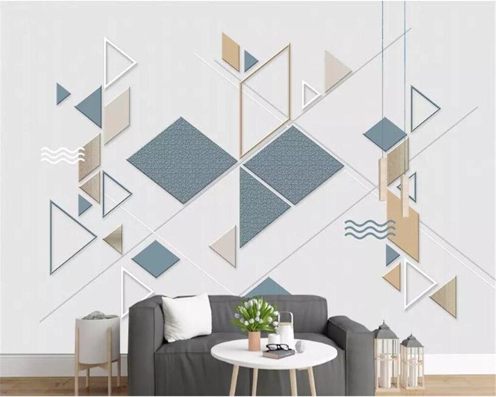 beibehang wallpaper for walls in rolls Mural Simple geometric wallpaper graphic home interior sofa background 3d bedroom mural