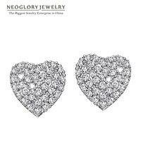 Neoglory alta qualità aaa zircone gioielli di moda orecchini per le donne 2017 ea1 wedj cuore nuovo di zecca amore
