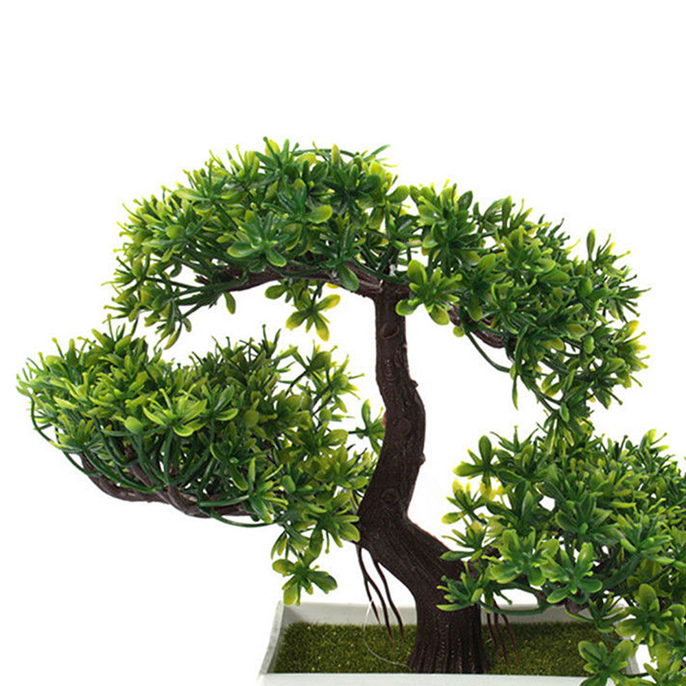 bonsai tree for office. Plastic Artificial Tree Plants Ceramics Bonsai Pot Culture For Office Home Living Room Furnishings Decorative-in From \u0026 Garden On E