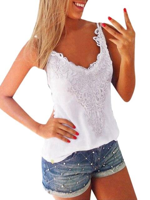 4XL 5XL Plus Size Cami Top Women Elastic Over Size Tank Tops O-Neck Lace Crochet Vest Slim Bodycon Sexy Summer Camis White/Black