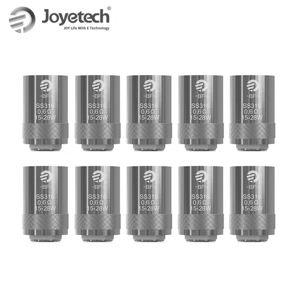 Original Joyetech BF SS316 Head 10pcs Bundle Lot 0.5ohm/0.6 ohm /1.0ohm Suitable for eGo Aio/ Cuboid Mini 10pcs lot sen013dg original