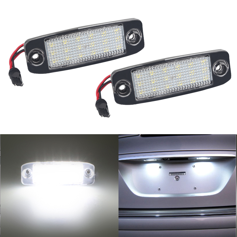 2Pcs 12V 3W LED Number Plate Lamp Bulb Kit For Hyundai Sonata YF 10MY GF 10 White Canbus License Plate Lights For Kia Sportage
