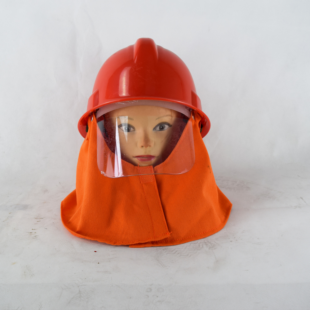 Cheapest Price Abs Plastic Fire Helmet Fire Resistant Helmet Fire Protective Helmet With Shawl