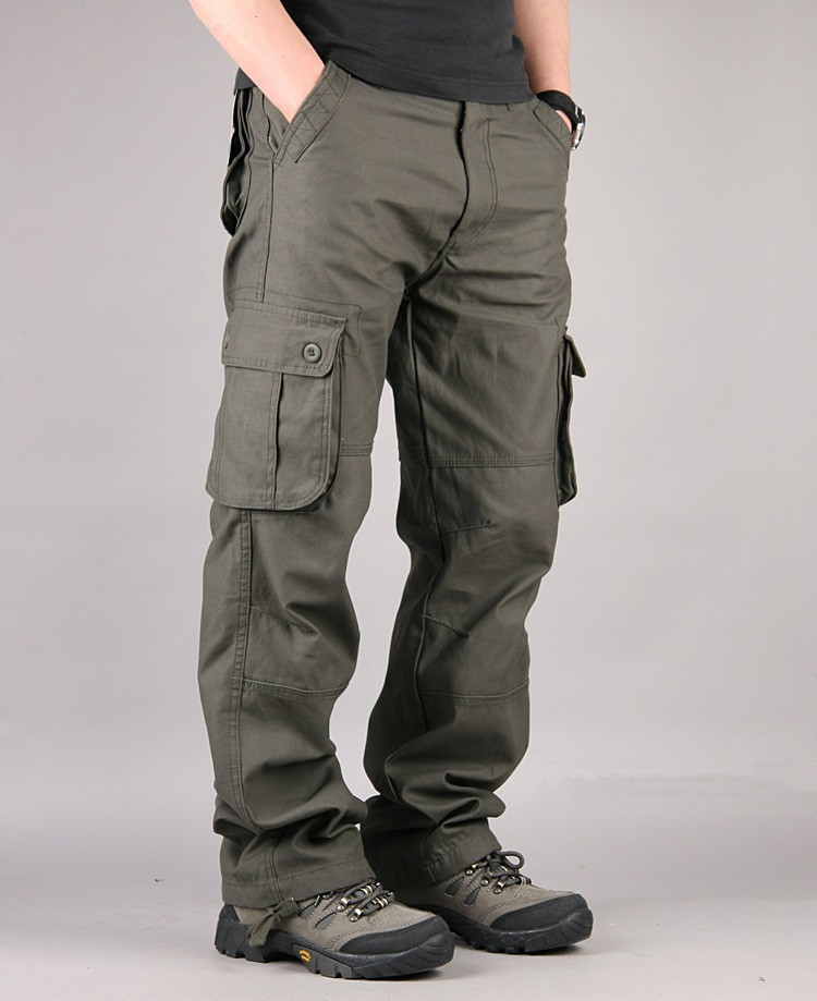 Overalls Men Cargo Pants Casual Multi Pockets Military Track Tactical Pants Pantalon Hombre Mens Sweatpants Straight Trousers