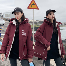 Winter Hooded Parka womens jackets Warm Thick Loose Coat Women Jacket Long Windproof