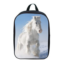 2017 New Oxford 12 Inches Printing Animal Small White Horse Kids Baby School Bags Boy Mini Backpacks for Children Schoolbag Girl(China)