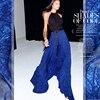 Wu Double Anti Wrinkle Silk Chiffon Clothing Scarf Fabric Fabric Cloth Hand Cleaning DIY Dream Blue