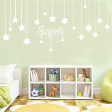 Cartoon Style Custom Pentagram Name Wall Sticker For Kids Room Decoration Accessories Decals Murals
