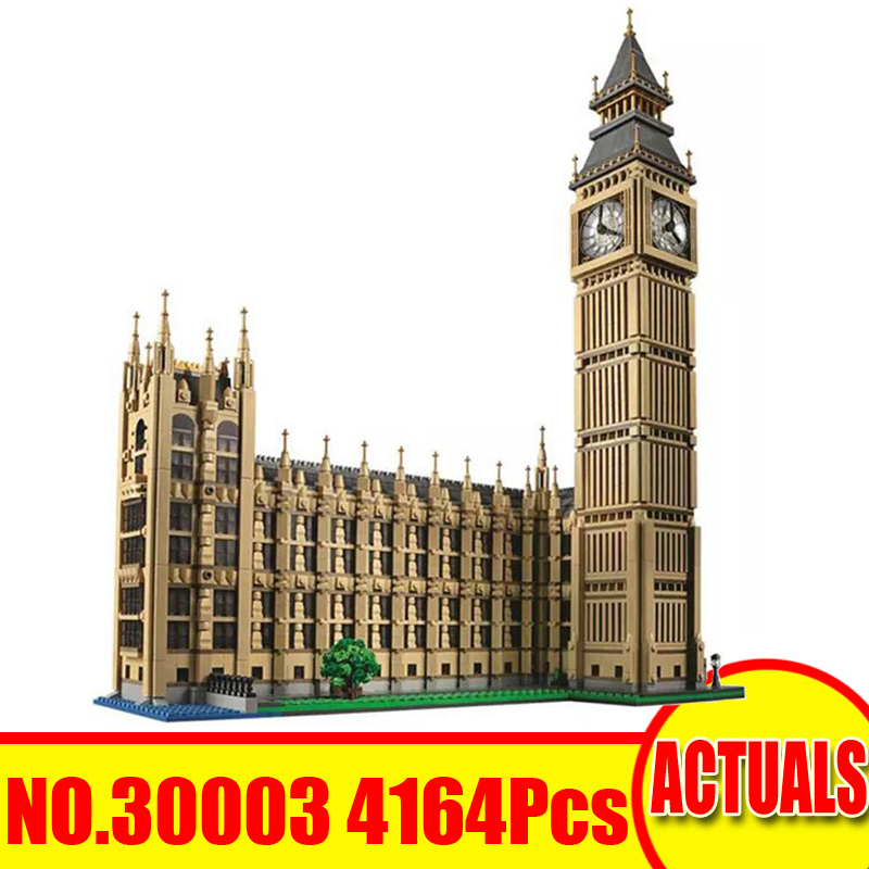 30003 4163Pcs LELE City Street Figures Big Ben Compatible With 10253 Building Kits Blocks Bricks Set Toy For Children Model Gift 2017 new 1106pcs lele minecraftes my world figures village model building kits blocks bricks compatible toys for children gift