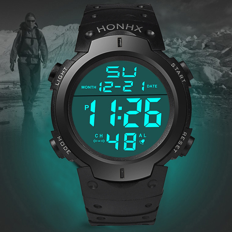 Men's Sport Casual LED Watches Men Digital Clock Multi-Functional Rubber Man Fitness Army Military Electronic Watch Reloj Hombre