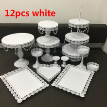 hot deal buy white wedding cake stand set 6-12pcs   pieces cupcake stand barware decorating cooking cake tools bakeware set party dinnerware