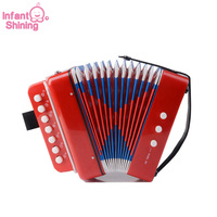 Infant Shining Accordion Children Instrument Toys Age for 3 or More Educational Playing Baby To Play Musical Instruments