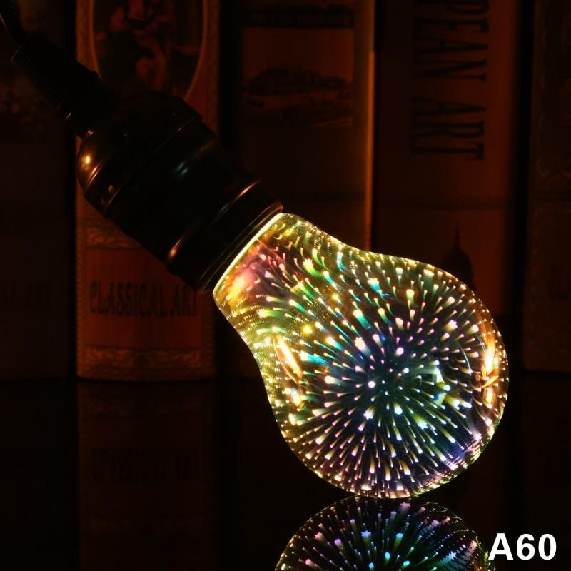 Image 5 - Led Light Bulb 3D Decoration Bulb 220V ST64 G95 G80 G125 A60 E27 Holiday Lights Novelty Christmas Lamp Lamparas-in LED Bulbs & Tubes from Lights & Lighting