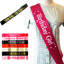 CMGBOBP Birthday Girl Glitter Satin Sash Princess 10th 18th 20th 21st 30th 40th birthday party decorations adult