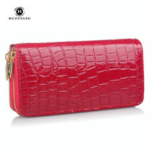 Zipper Purse Women's Leather Wallets Mobile Real Rushed Famous Brand Women Wallet Female Clutch Fashion New Womens Purses