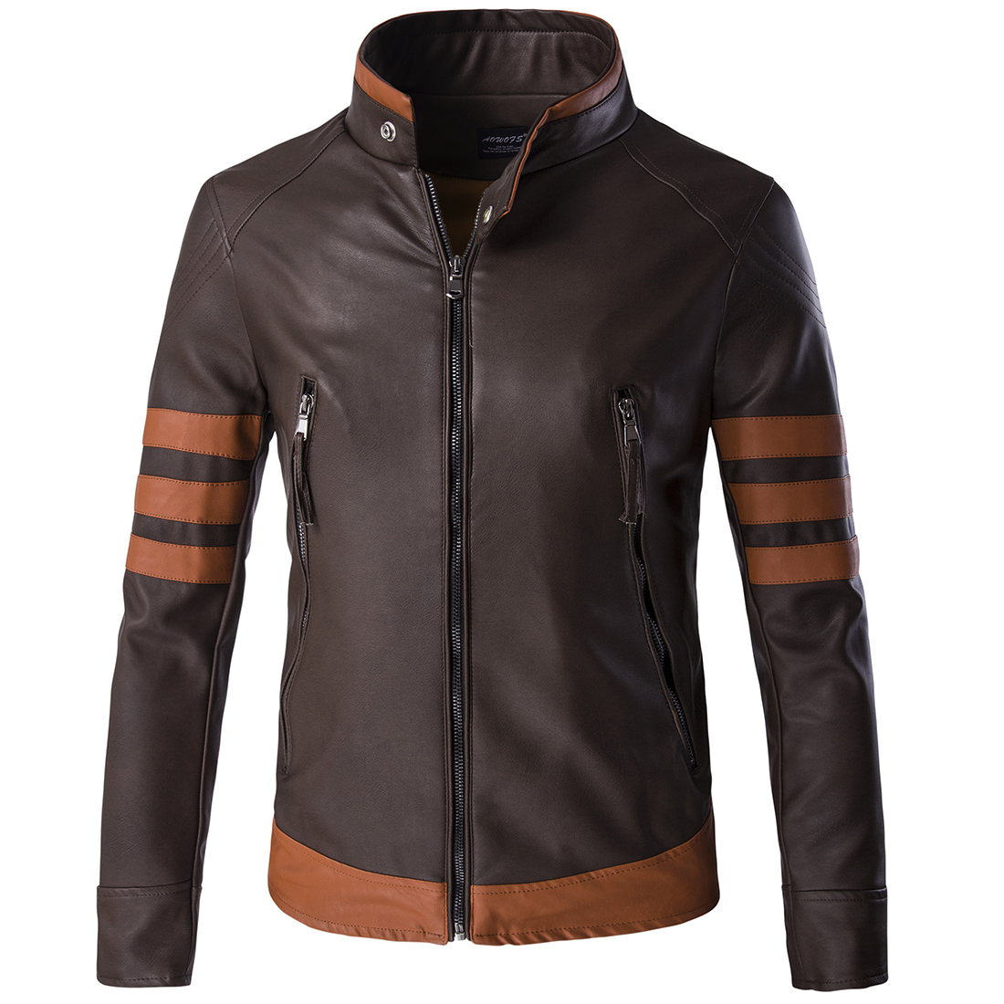Mens Brown Leather Motorcycle Jacket Promotion-Shop for