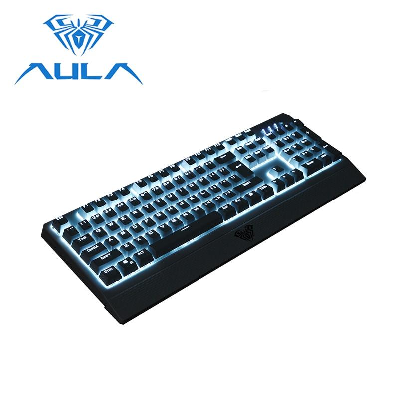 AULA mechanical keyboard Blue Switch 104keys Anti ghosting USB Wired ...