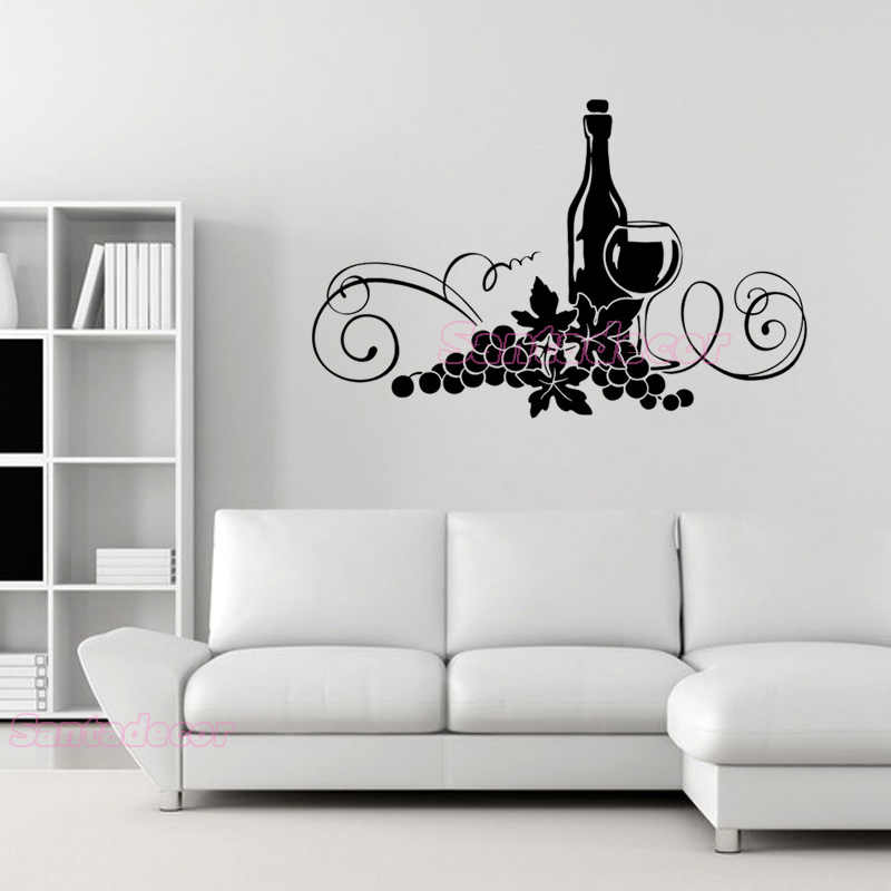 3D Grapes and wines 3 Wall Paper Wall Print Decal Wall Deco Indoor Wall Murals