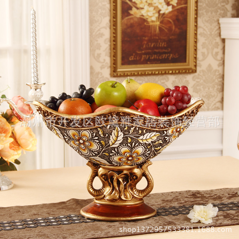 Retro ornaments living room decorative fruit bowl European resin ornaments  fruit plate fruit bowl large wholesale luxury coffee on Aliexpress.com    Alibaba ...