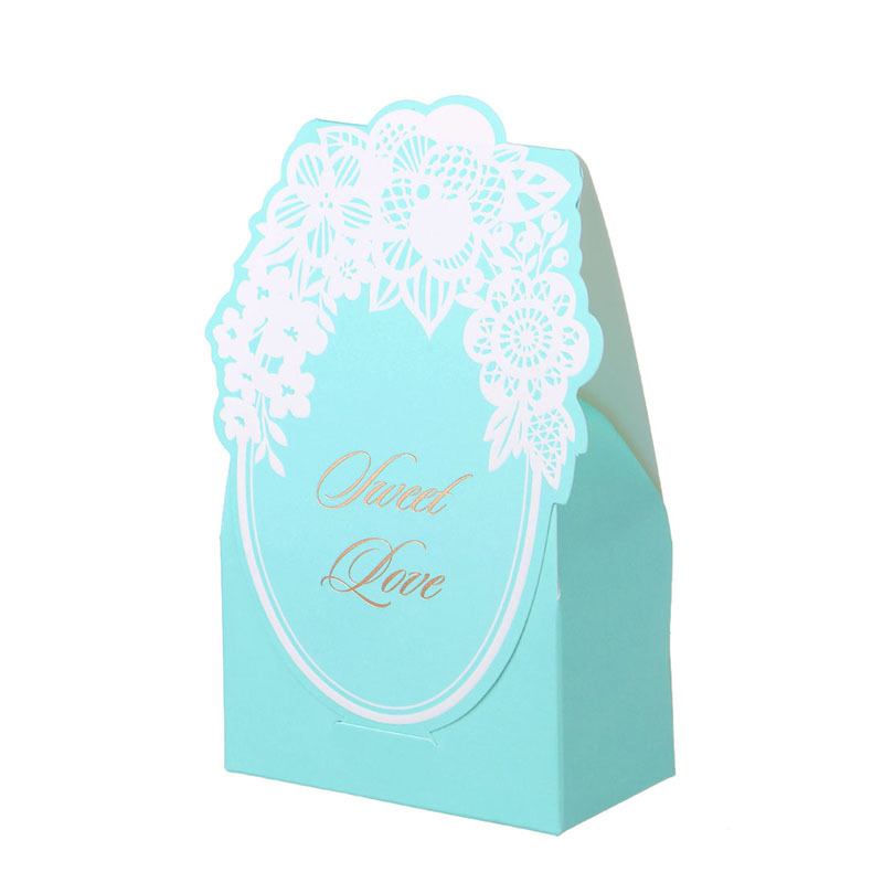 Wedding Gifts From Hawaii: Laser Cut Vintage Flower Gift Candy Boxes Souvenirs