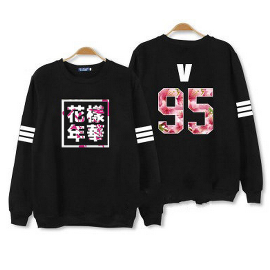 Kpop BTS Hoodies For Men Women Bangtan Boys Album Floral Letter Printed Fans Supportive Sweatshirt male sudaderas mujer 2016