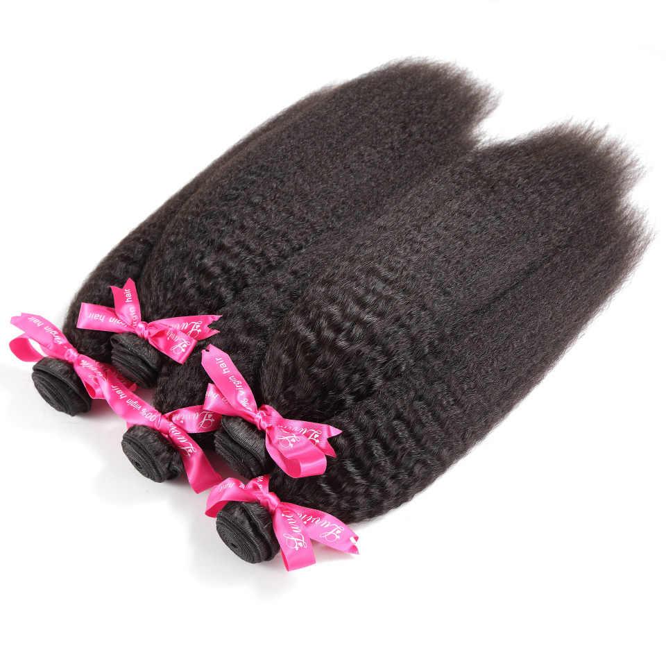 Luvin перуанский Девы волос странный прямые волосы 100% Необработанные человеческих волос Weave Связки Бесплатная доставка