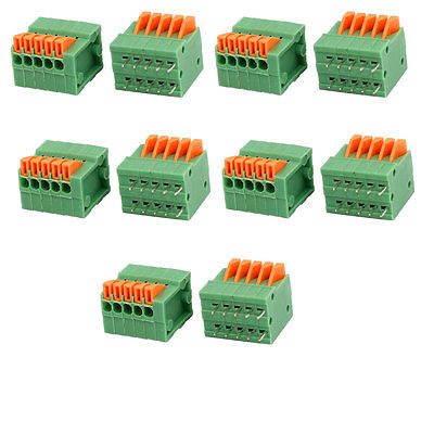 цена на 10pcs KF141V 150V 2A 2.54mm Pitch 5P Spring Terminal Block for PCB Mounting