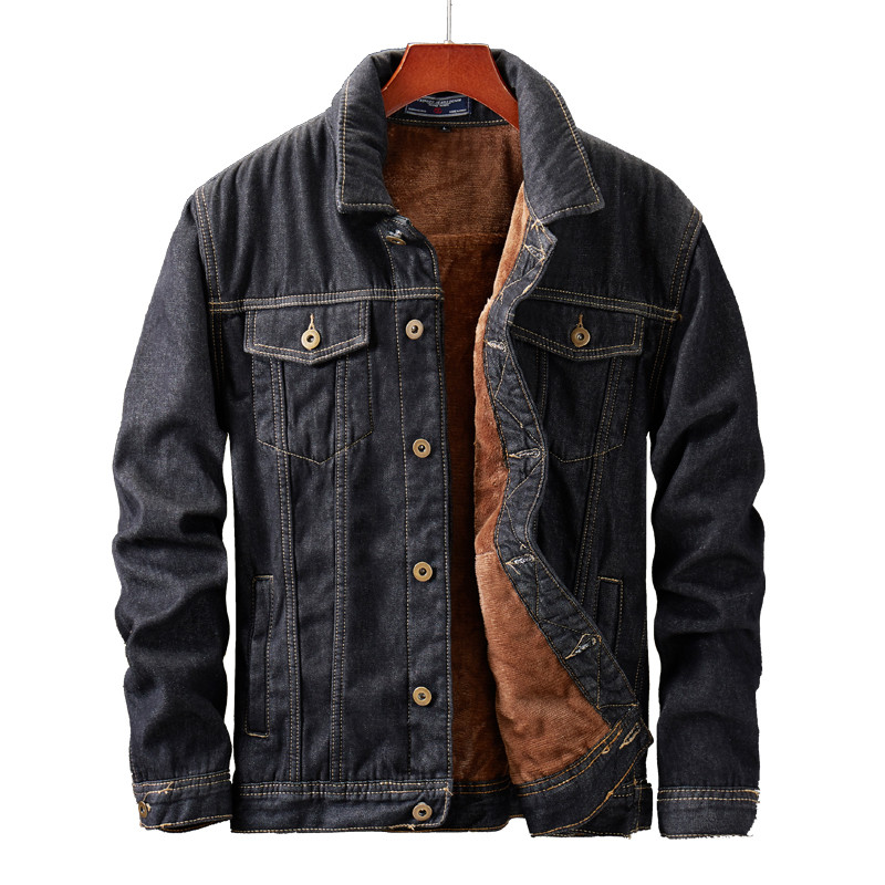 MORUANCLE Men s Winter Warm Jean Jackets And Coats Fleece Lined Thick Thermal Denim Jacket Outerwear Innrech Market.com