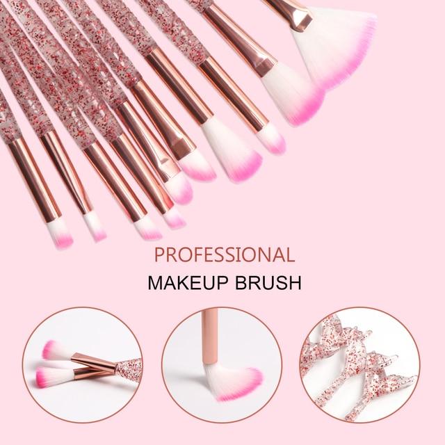 Dighealth Makeup Brushes Mermaid Brush Foundation Powder Eye Shadow Eyeliner Eyebrow Blush Lip Make Up Brush Face Cosmetic Tool 2