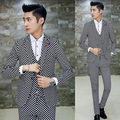 3pcs 2017 Autumn Winter Suit Men Fashion Casual Plaid Soft Velvet Suit Men latest coat pant designs slim fit mens tuxedo suits