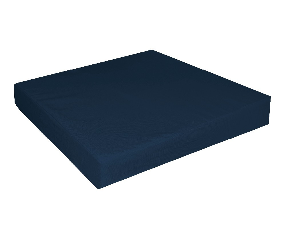 Sofa Seat Covers Only: Aa288t Deep Blue 100% Cotton A Grade Canvas Square 3D Box
