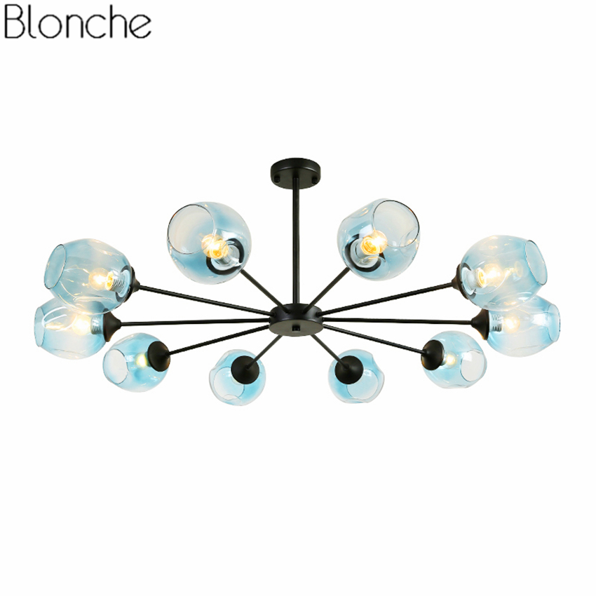 Nordic DNA Chandeliers Magic Bean Hanglamp Glass Lampshade Ceiling Hanging Lamp Led Lights f/ Living Room Bedroom Light Fixtures chandeliers lights led lamps e27 bulbs iron ceiling fixtures glass cover american european style for living room bedroom 1031