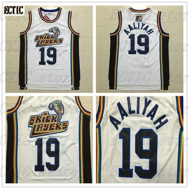 2018 ECTIC Basketball Jerseys  19 Aaliyah Bricklayers 1996 MTV Rock N Jock  Movie Retro Stitched Bas Mens Jerseys 43568b2344
