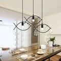 Скандинавские подвесные светильники для домашнего освещения  Современная Подвесная лампа  Железный Абажур  светодиодная лампа для спальни...