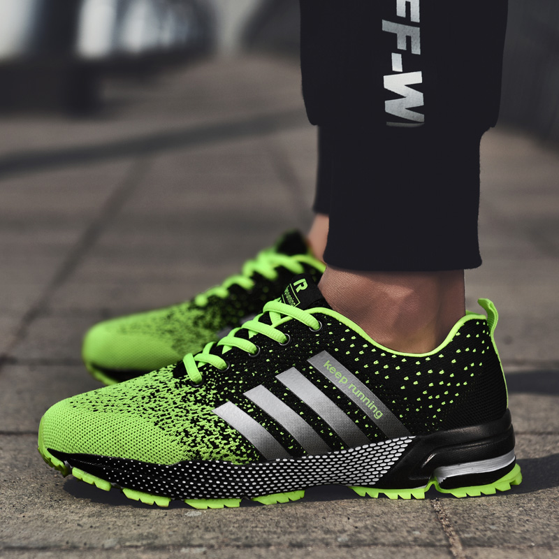 2019 Men Running Shoes Couple Sport Shoes Men Flats Outdoor Sneakers Mesh Breathable Walking Footwear Sport Trainers(China)