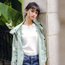 2017 new mori girl Solid color slim all-match long-sleeve T-shirt female embroidery basic shirt top women's autumn
