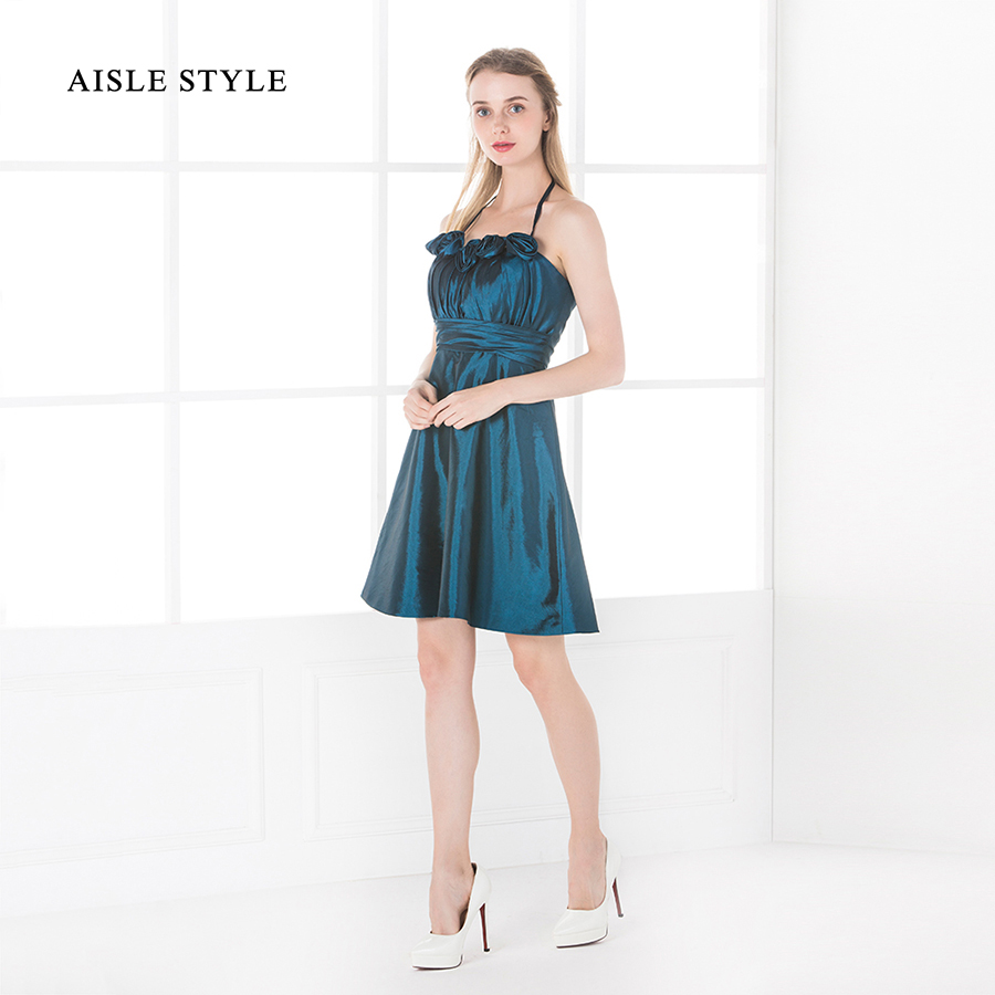 Aisle style 2017 juniors bridesmaid dresses pretty short halter aisle style 2017 juniors bridesmaid dresses pretty short halter pleated taffeta teal young girl bridesmaid dress with flower in bridesmaid dresses from ombrellifo Images