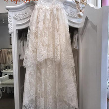 d30bab684 43 inches long vintage baby girl christening dresses two layers french  alencon lace baptism gown heirloom