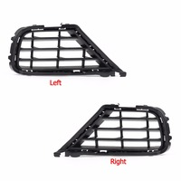 Areyourshop Car Front Bumper Lattice Grille Outer Grill Cover For VW Touareg 2015 2017 Left Right