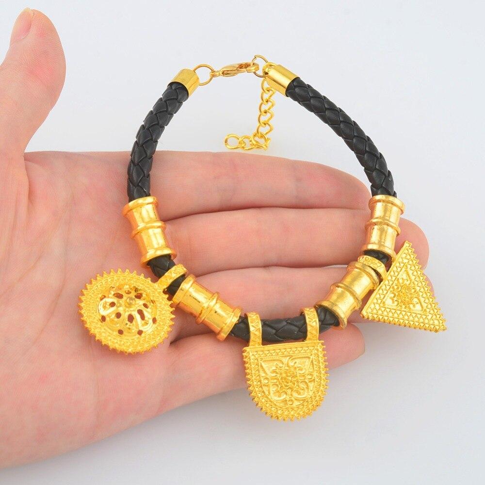 African Wedding Gifts: Anniyo Ethiopian Rope Bracelets For Women Habesha Bangles