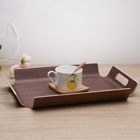 "16"" Rectangular tea tray solid wood Coffee tray Breakfast plate Fruit plates Kitchen storage holder Table decorations"