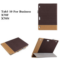 SD PU Leather With Magnetic Folio Folding Stand Book Case Cover For Lenovo Tab3 10 For