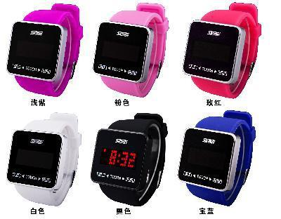 Silicone Touch 2013 SKMAI Screen Creative LED Flashing Wristband Watch
