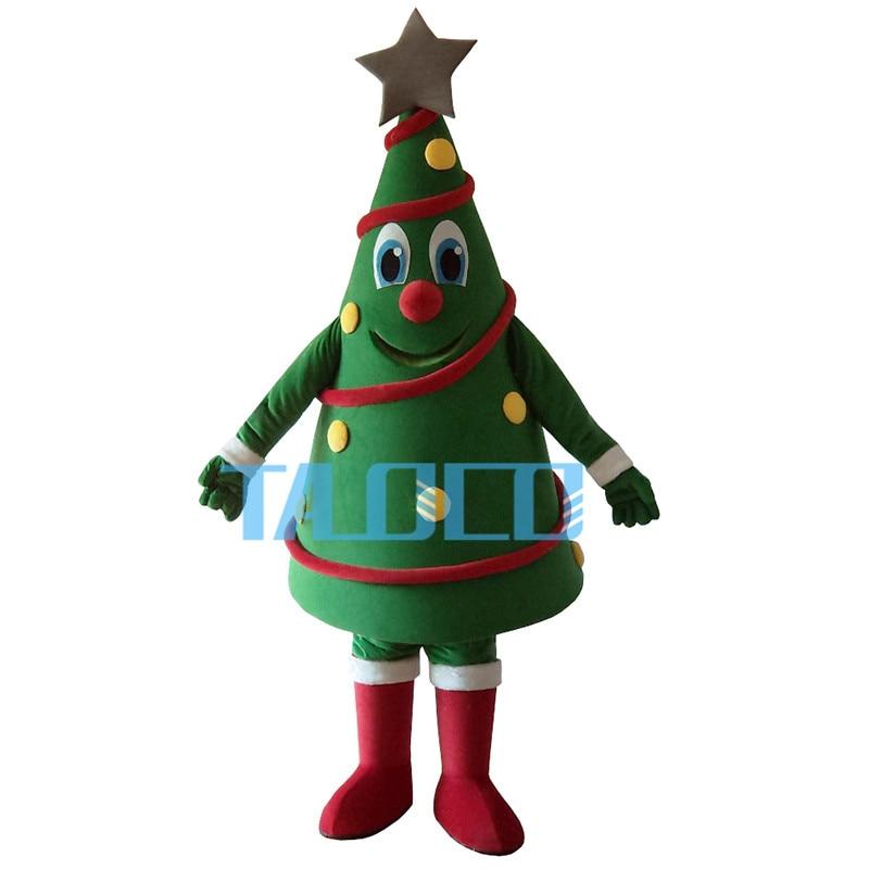 Vendite calde Verde Albero Di Natale Della Mascotte del Costume di Trasporto Libero
