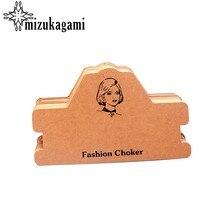 11*18.5 CM 10 sztuk/partia papier typu Kraft naszyjnik karta biżuteria bransoletka naszyjnik wyświetlacz ulubiony znakowanie ceny odzieży etykiety tagi