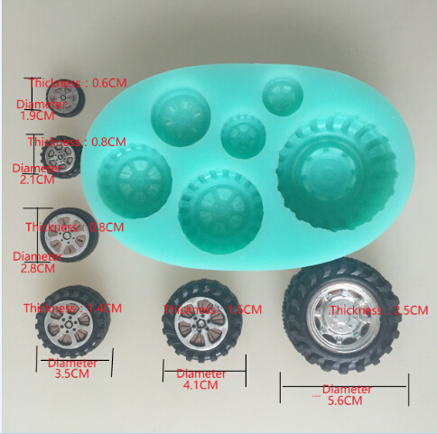 Image 2 - car wheel tires silicone flexible mold, tire silicone resin mold,  jewelry mold, fondant cake mold-in Cake Molds from Home & Garden